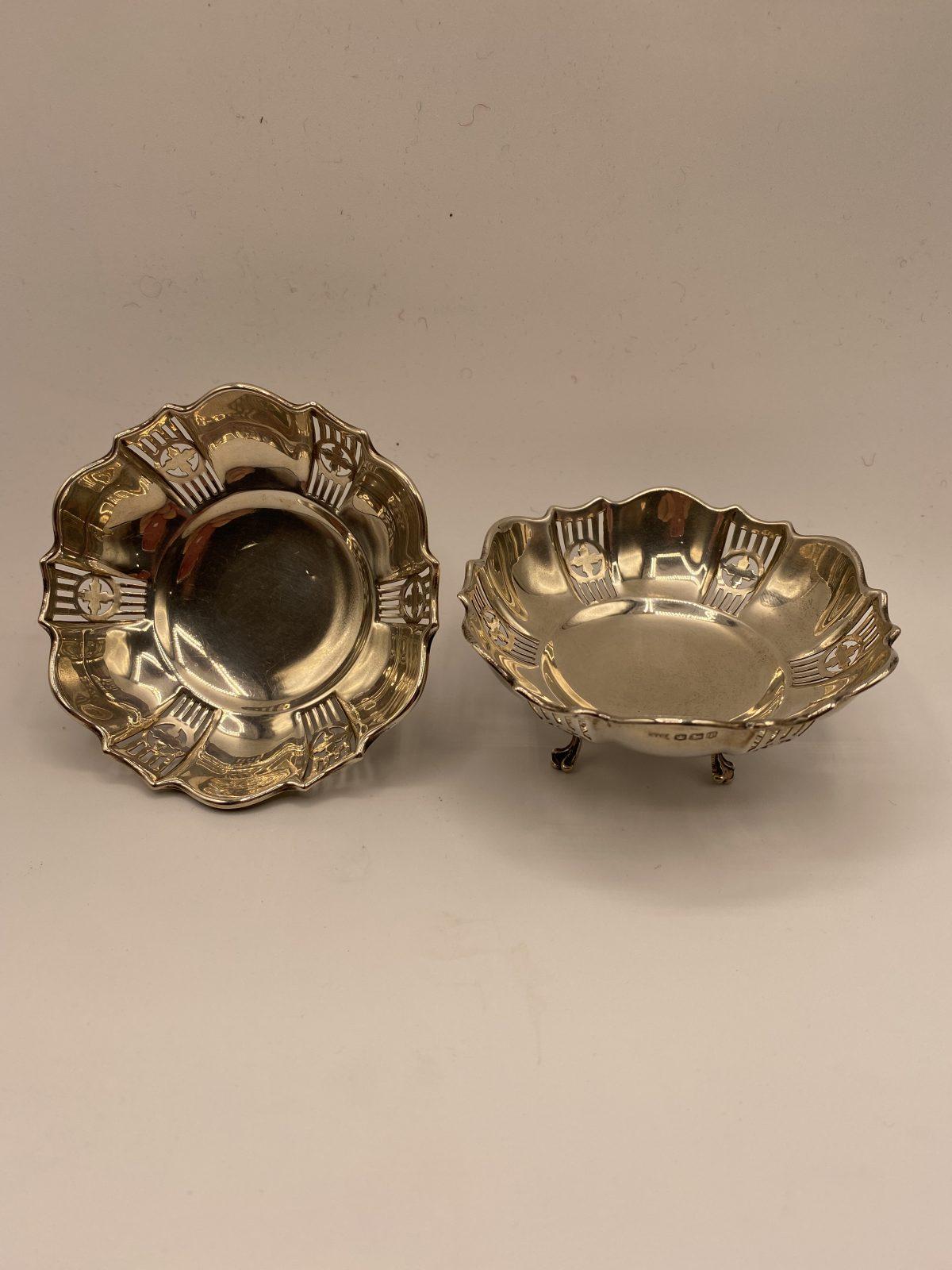 G3 - A Pair of Silver Bonbon Dishes, Sheffield 1927.  £124
