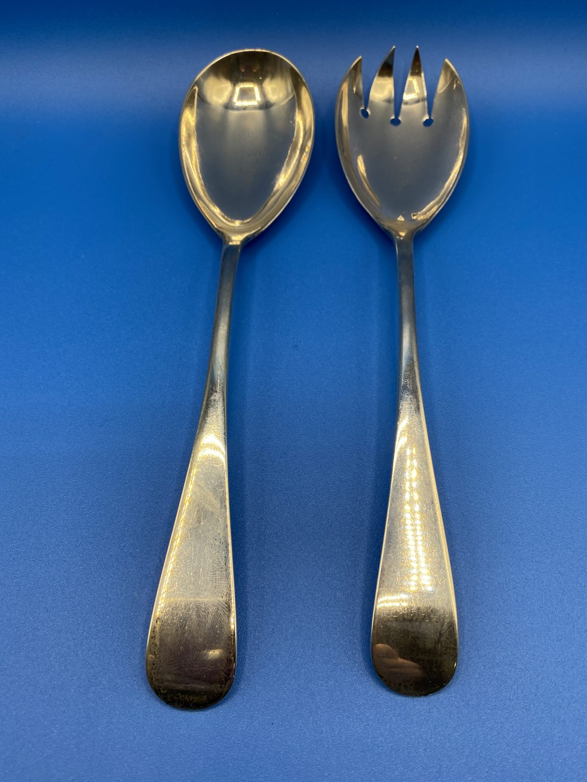 G3 - A Pair of Silver Salad Servers, Sheffield 1923.  £118