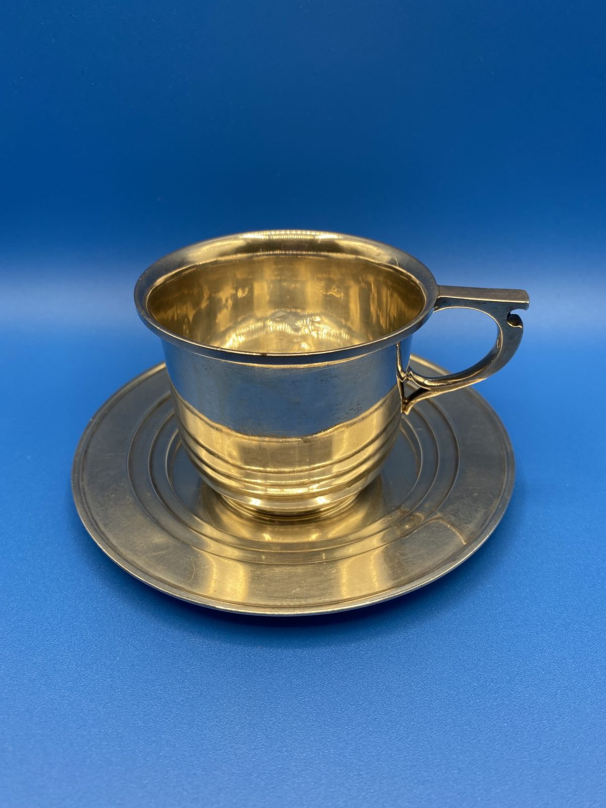 G3 - A Silver Cup & Saucer by Adie Bros, Birmingham 1930.  £180