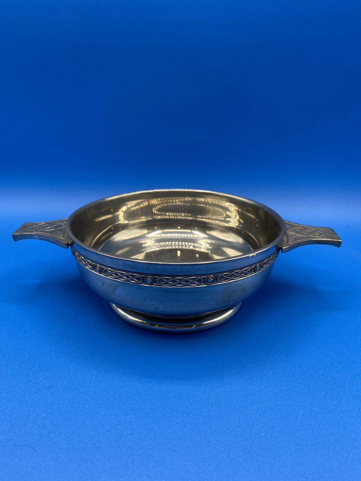 A Pewter Quaiche, Celtic Design.  £24