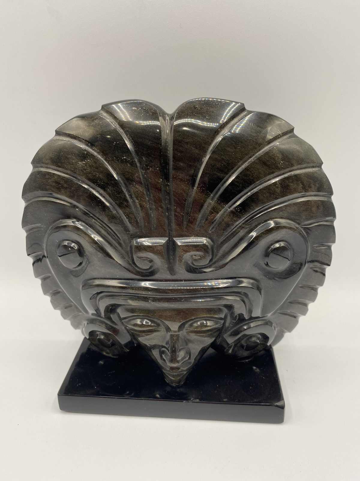 G7 - A Vintage Large South American Carved Agate Head.  £125