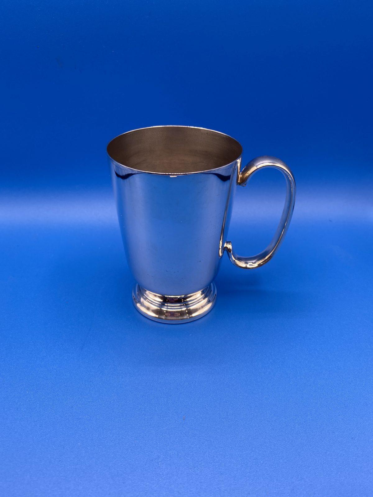 G3 - A Silver Plated, half pint Tankard.  £22