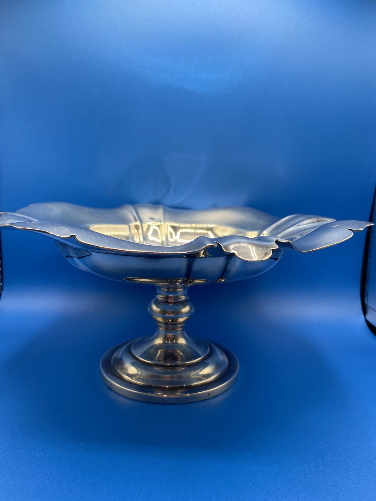G3 - A Silver Plated Stemmed Fruit Tazza.  £54